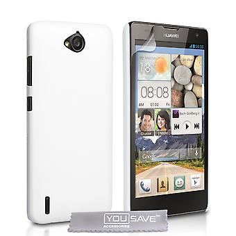 Yousave accessoires Huawei Ascend G740 harde Hybrid Case - wit