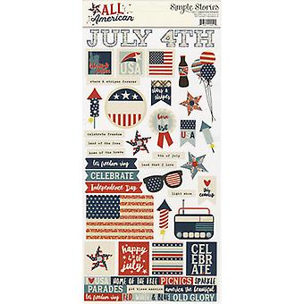 Simple Sets All American Cardstock Stickers 6