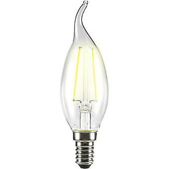 LED vela E14 4 angular W = 37 W Warm white (Ø x L) 35 x 120 mm EEC: base-congelador a ++ Sygonix filamento 1 PC