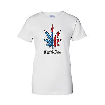 USA Flag T Shirt Women's Juniors Weed The People