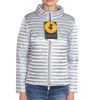 Save the duck women's D3682WIRIS61062 silver polyester Quilted Jacket