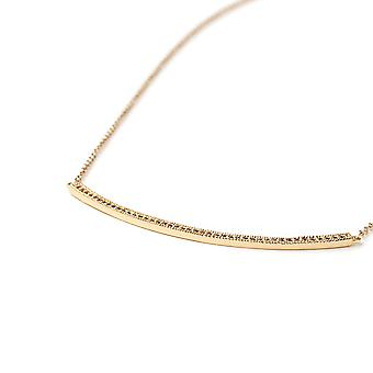 Plated necklace yellow gold and Cubic Zirconia white
