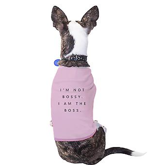 I'm the Boss Cotton Pet Shirt Pink Small Dogs Clothes