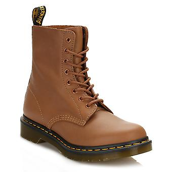 Dr. Martens Womens Tan Pascal Virginia Leather Boots