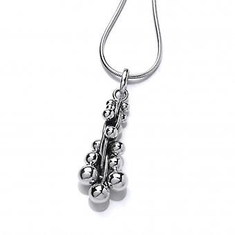 Cavendish French Silver Peppercorn Pendant with 18-20