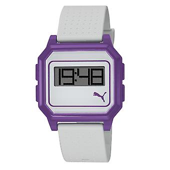PUMA watch bracelet watch ladies flat screen white purple PU910951007