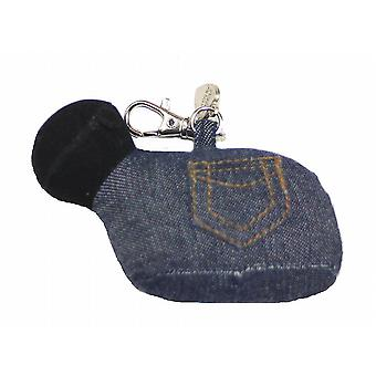 Denim Sheep Bag or Key Charm by Monica Richards