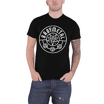Babymetal T Shirt Pentagram Band Logo japanske Metal nye officielle Herre sort