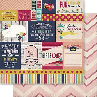 Bella! Girl Double-Sided Cardstock 12