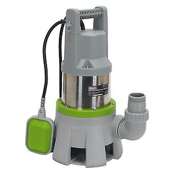 Sealey Wpd415 Hi Flow Submersible Stainless Dirty Water Pump Auto 417L/Min 230V