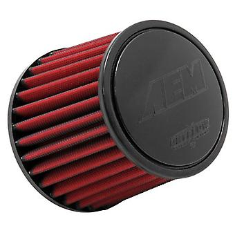 AEM 21-201DK Universal DryFlow Clamp-On Air Filter: Round Tapered; 2.5 in (64 mm) Flange ID; 5.125 in (130 mm) Height; 6