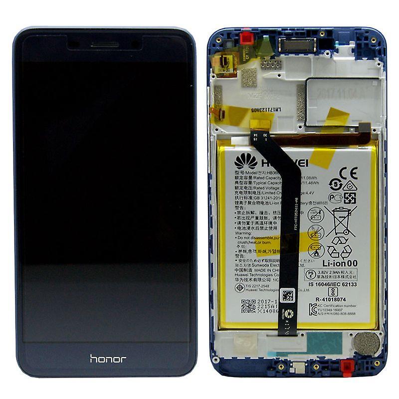 Huawei afficheur LCD + 02351NRT Pro Service Pack bleu cadre pour honneur 6 quater nouveau