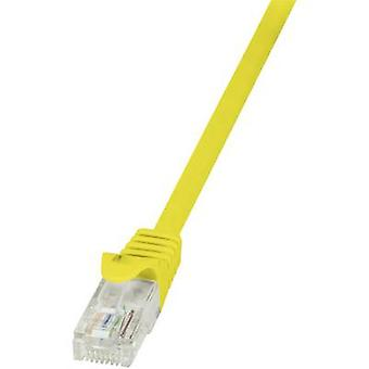 LogiLink RJ45 Networks Cable CAT 6 U/UTP 7.5 m Yellow incl. detent
