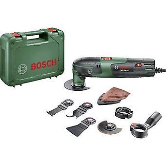 Bosch Haus und Garten PMF 220 CE Set 0603102001 Multifunktions Werkzeug mit Zubehör, inkl. Fall 16 Stück 220 W