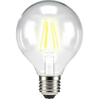 Sygonix LED E27 Globe 6 W = 60 W Warm white (Ø x L) 80 mm x 115 mm EEC: A++ Filament 1 pc(s)