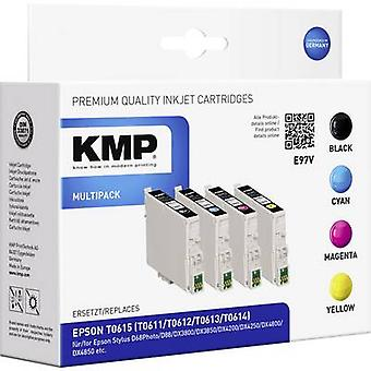 KMP Ink replaced Epson T0611, T0612, T0613, T0614 Compatible Set Black, Cyan, Magenta, Yellow E97V 1603,0005