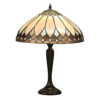 Interiör 1900 Brooklyn 2 ljus bordslampa i mörka Bro