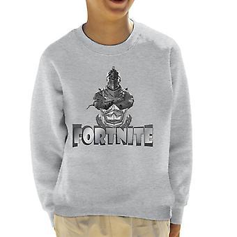 Fornite Silver Knight Grey Font Kid's Sweatshirt
