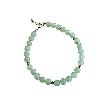 Gemshine Damen Armband Aventurin Meeresgrün Grün 925 Silber 6 mm