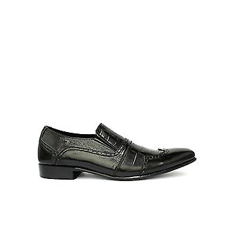 Handcrafted Premium Leather Mist Patent Black Loafer Shoe