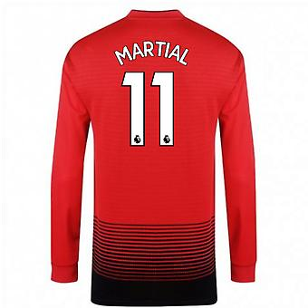 2018-2019 Man Utd Adidas Home Long Sleeve Shirt (Martial 11)