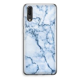 Huawei caja transparente P20 (suave) - canica azul
