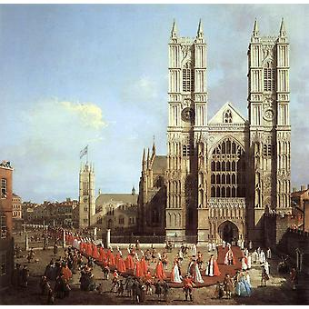 Wastminster Abbey with the Procession of,Canaletto,50x50cm