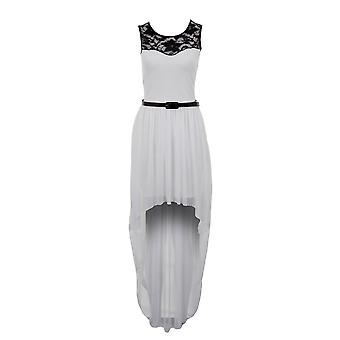 Ladies Lace Black Ivory Red Chiffon High Low Fishtail Maxi Women's Dress