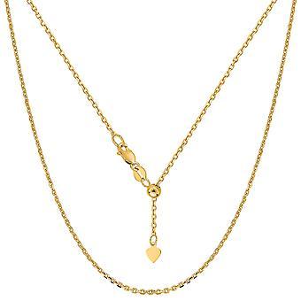 14 k cavo regolabile oro giallo catena collana 0,9 mm, 22