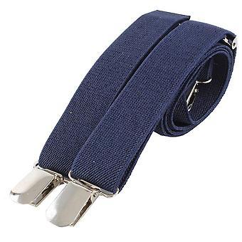 Knightsbridge Neckwear Clip on Braces - Navy