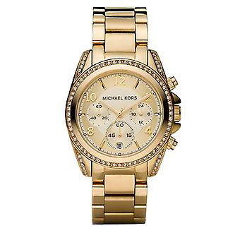 Michael Kors Ladies' Blair Chronograph Watch - MK5166 - Gold
