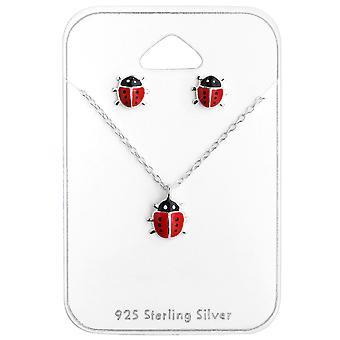 Marihøner - 925 Sterling sølv sett - W28974x