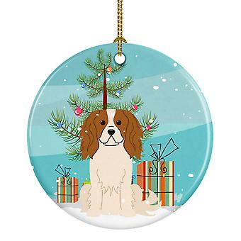 Merry Christmas Tree Cavalier Spaniel keramiske Ornament