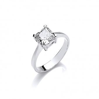 Cavendish French Simple Sparkle Solitaire Ring