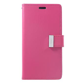Mercury GOOSPERY Rich Diary to iPhone XR-Hot Pink