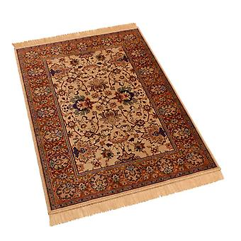 Traditional Indian Agra Artificial Faux Silk Effect Rugs 4620/4 100 x 140cm