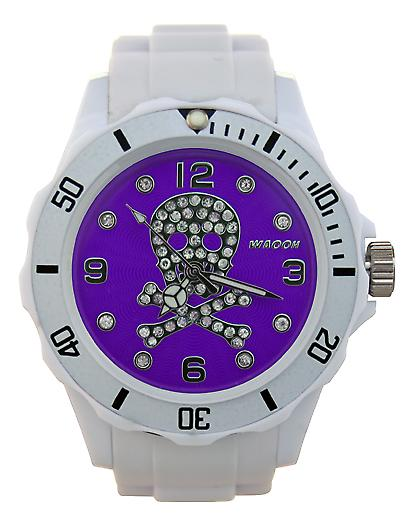 Waooh - Watch Skull Strass 39 White Dial Color