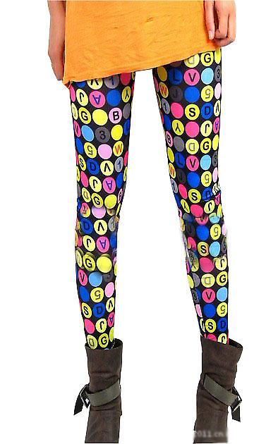Waooh - Fashion - Leggings Pattern Numbers And Letters