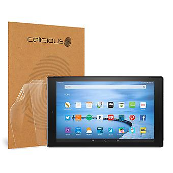 Celicious Vivid Invisible Glossy HD Screen Protector Film Compatible with Amazon Fire HD 10 (2015) [Pack of 2]