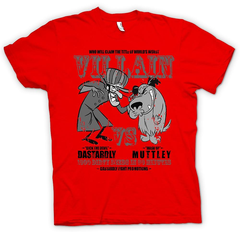 Heren T-shirt-lafhartige en Muttley - schurk - Funny