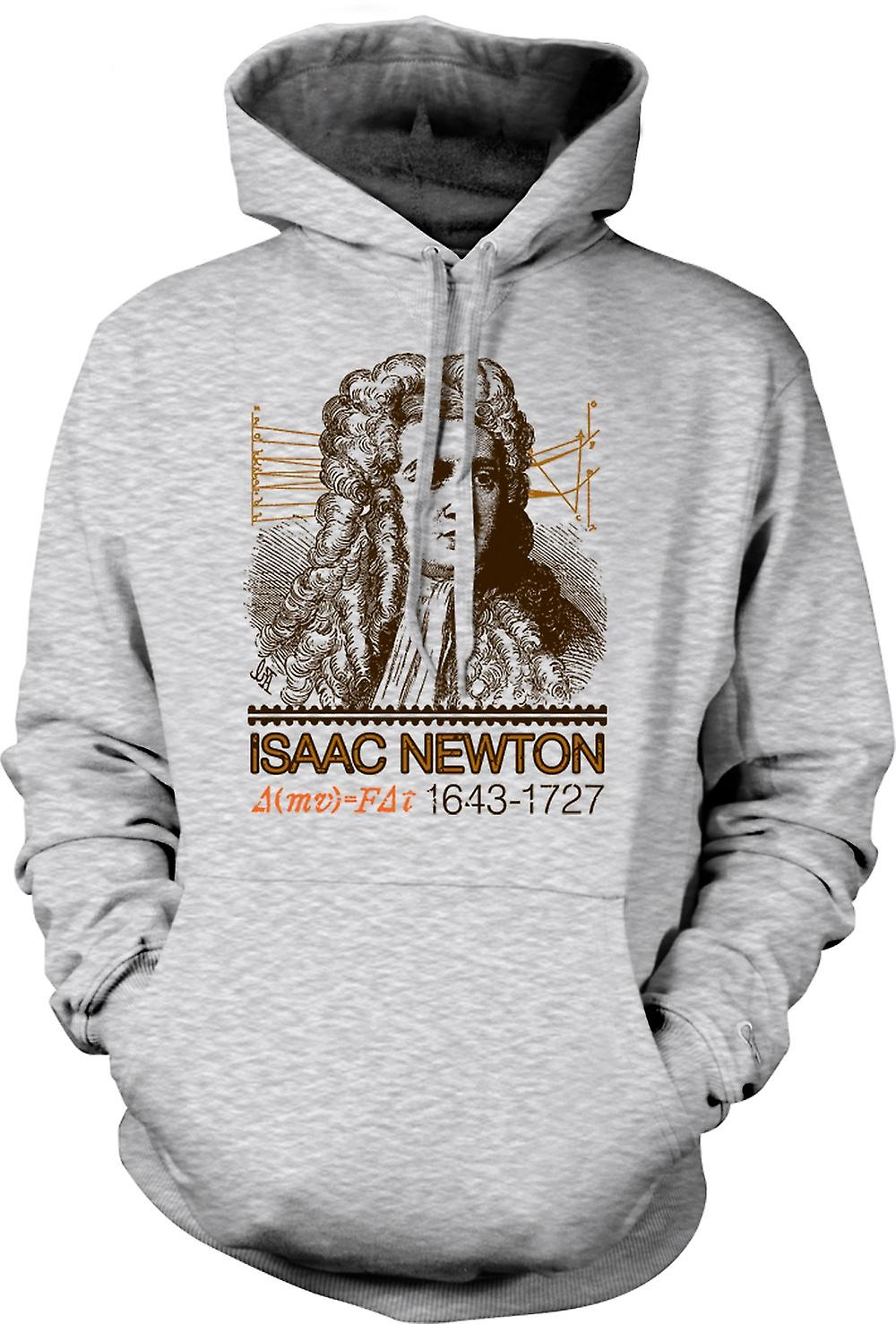 Mens Hoodie - Isaac Newton Scientist 1643 - 1727 - Icon