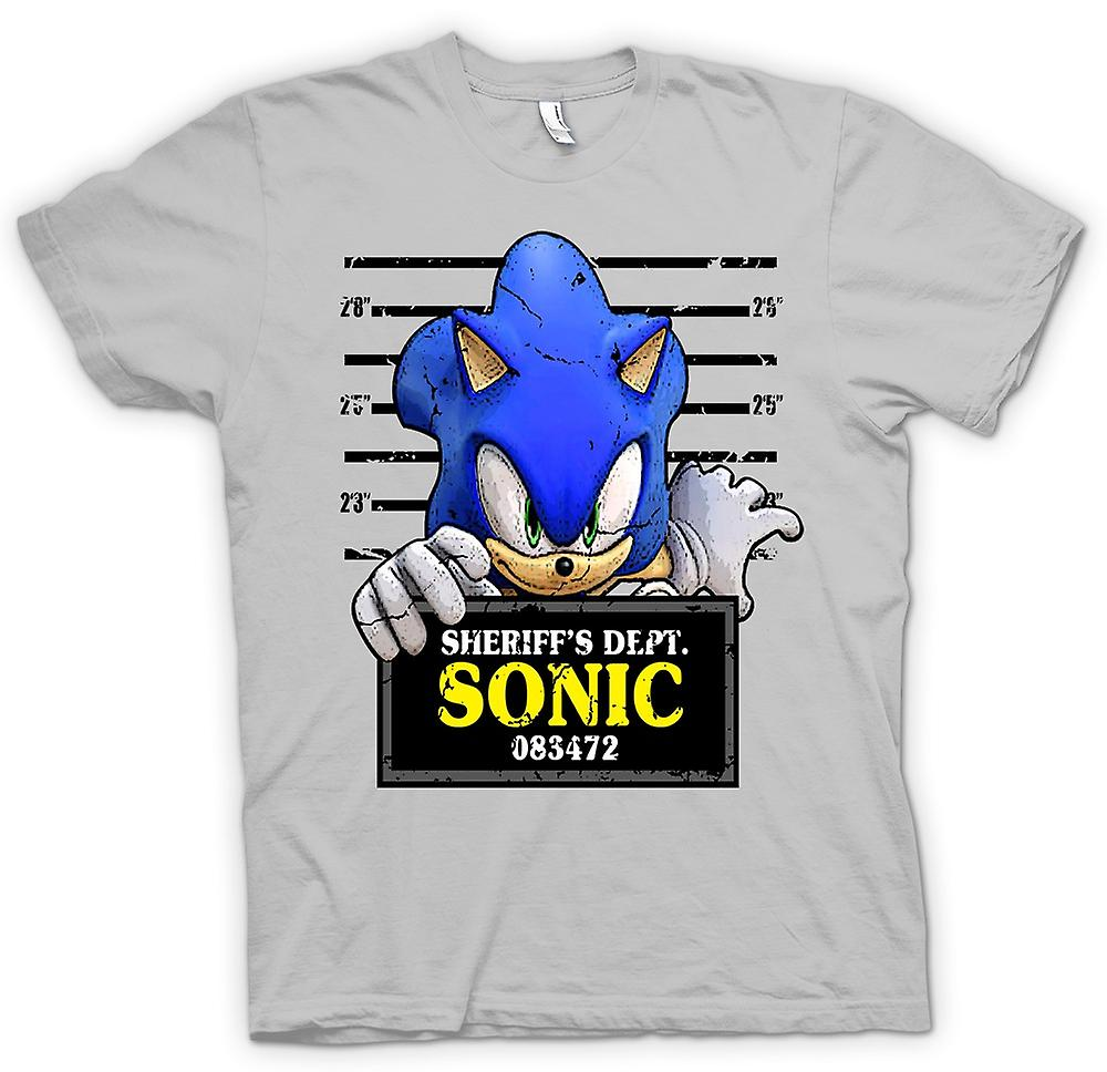 Mens t-skjorte-Sonic The Hedgehog - krus skudd