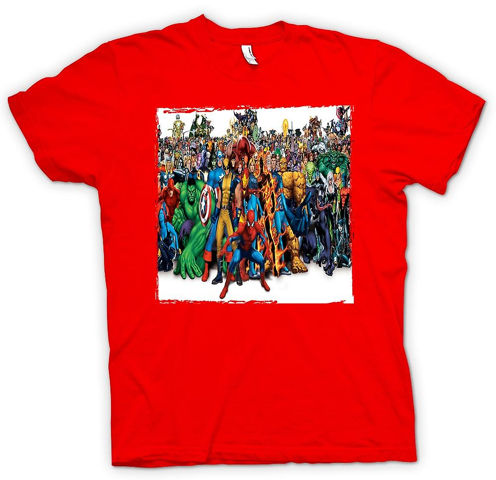 Hommes T-shirt - Marvel Comic Groupe Hero - Portait