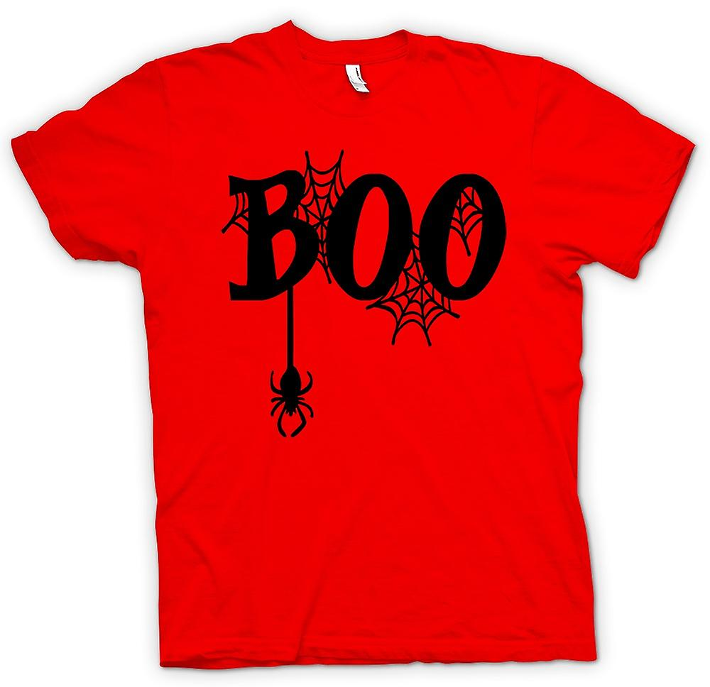 Mens T-shirt - Boo - Spiders Web - Funny