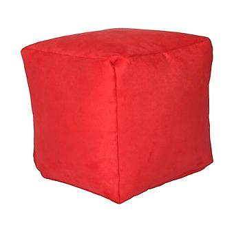 Seat cube seat stool Stool Noble Soft red 40 x 40 x 40 cm