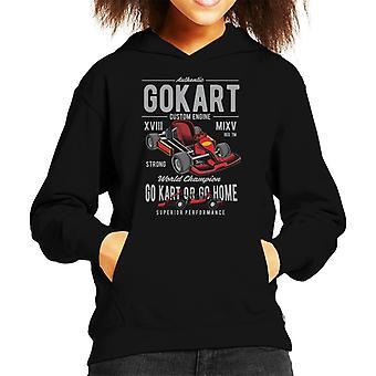 Go Kart Custom Engine Kid's Hooded Sweatshirt