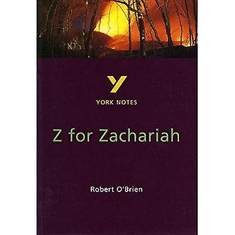 York Notes on Robert O'Brien's  Z. for Zachariah