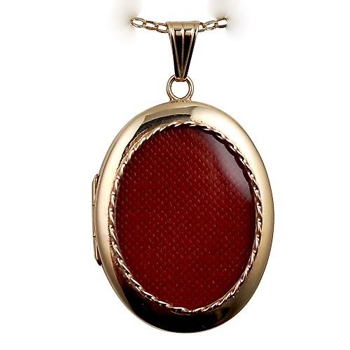 9ct Gold 35x26mm plain oval family Locket with a belcher Chain 16 inches Only Suitable for Children