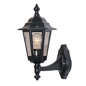 Berlusi 2 buiten wandlampen staand - zwart