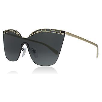 Bvlgari BV6093 278/87 bleg guld/sort BV6093 Oval solbriller linse kategori 3 størrelse 37mm